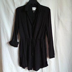 HD in Paris Gauzy Lightweight Black Tunic